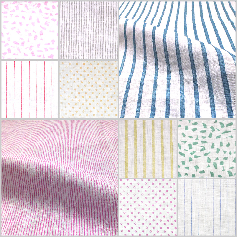 collage of linen